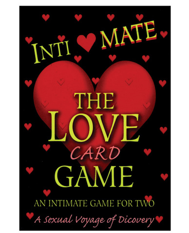 Intimate the love card game for two