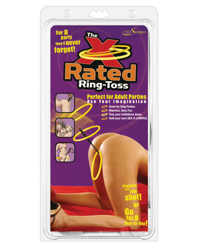 X-rated ring toss party game