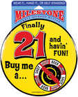 Milestone finally 21 spinner button - wear it, hang it....stand it