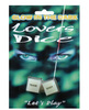 Glow in the dark lover&#039;s dice game