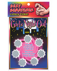 Lotto ticket, girls night out Sex Toy Product