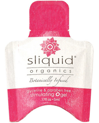 Sliquid organics o gel .17 oz pillow Sex Toy Product