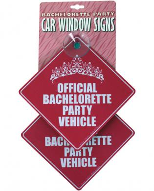Bachelorette party car window signs - pack of 2
