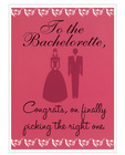To the bachelorette - greeting card pack of 6