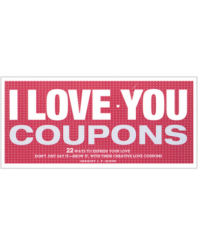I love you coupons book