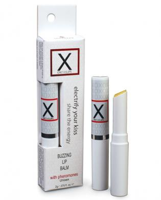 X on the lips buzzing lip balm w/pheromones