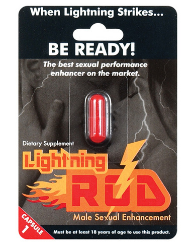 Lightning rod male stimulant blister pack 1 each