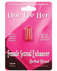 One for her female stimulant blister pack 1 each