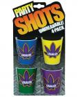 Party Shots Legalize - Asst. Colors Pack of 4
