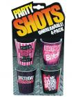 Party shots birthday bitch - asst. pack of 4 unbreakable Sex Toy Product