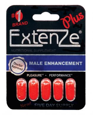 Extenze max strength male enhancement - 5 tablet blister pack
