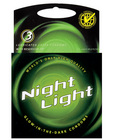 Night light glow in the dark condom - 3 pack
