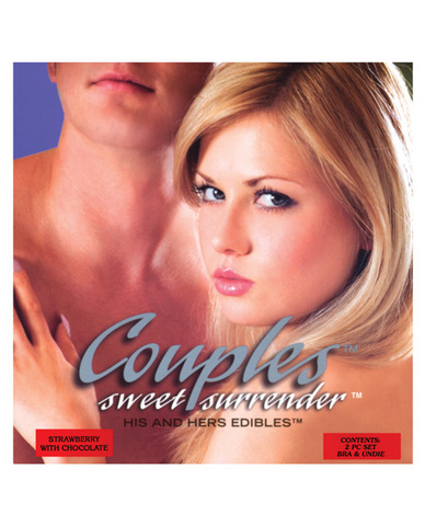 Couples sweet surrender his and her straw wchoc 2pc