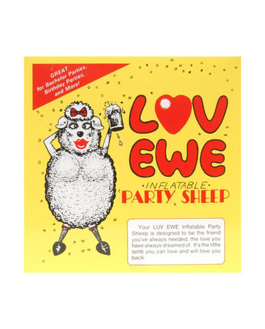 Love Ewe, Inflatable sheep, black