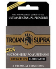 Trojan supra ultra-thin polyurethane  3-pack