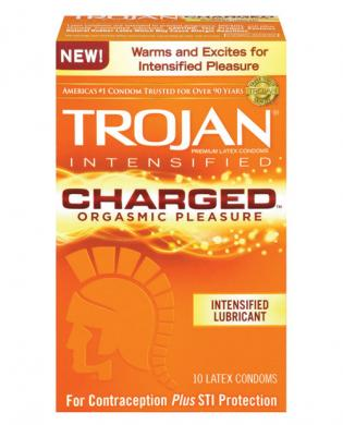 Trojan charged condoms - box of 10