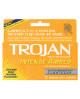 Trojan intense ribbed ultrasmooth 12 pack
