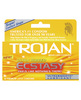 Trojan ultra ultra ribbed ecstasy condoms - box of 10