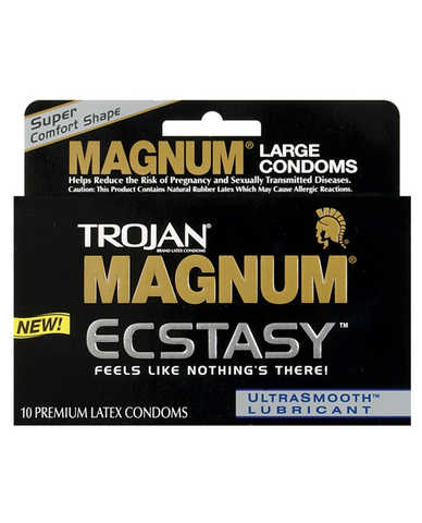 Trojan magnum ecstasy condoms - box of 10 Sex Toy Product