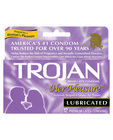 Trojan her pleasure lubricanted condoms - box of 12