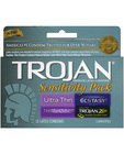 Trojan sensitivity pack condoms - box of 10