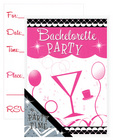 Bachelorette party invite cards - 10 pack