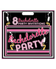 Bachelorette party invitations - pack of 8