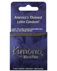 Kimono micro thin condom - box of 3