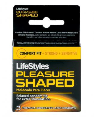 Lifestyles pleasure shaped - box of 3