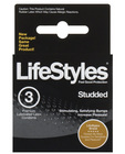 Lifestyles studded  premium lubricated latex 3-pack