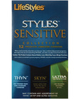 Lifestyles styles sensitive collection - box of 12 Sex Toy Product