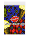 Latex dental dam, vanilla