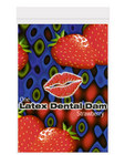 Latex dental dam, strawberry