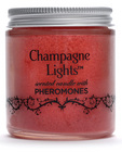 Champagne lights candle with pheromones apple cinnimon