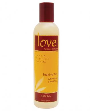 Love natural soaking wet shampoo by earthly body - 8 oz