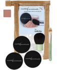 Earthly body mineral make-up - #5.2 tan foundation, concealer, sheer mineral and 2 brushes