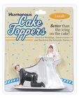 Humorous cake topper-leash