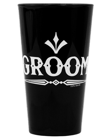 Groom (rock) pint glass - black