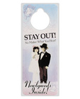 Stay out! newlywed privacy door hanger