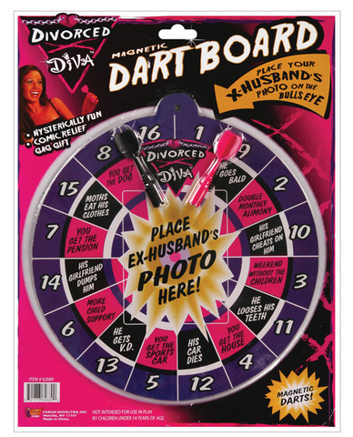Divorced diva dart board