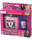 Bachelorette party flask and shot glass