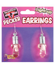 Bachelorette light up pecker earrings