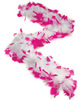 Bachelorette feather boa - white w/pink tips