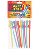 Party pecker straws, assorted colors (10 pc bag)