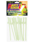 Party pecker sipping straws glow in the dark (10pc bag)