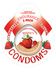 Endurance flavored condom strawberry, 3 pack Sex Toy Product
