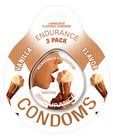 Endurance flavored condom vanilla, 3 pac