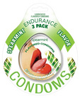 Endurance flavored condom spearmint, 3 pack