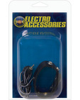 Electrosex adjustable snap leather cockring