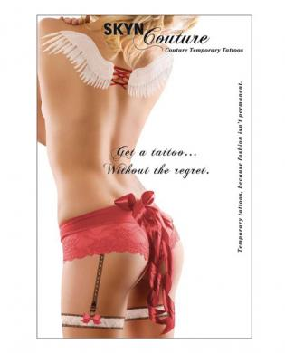 Skyn couture new lover's lane angel wings and leg garters  - 4 sheets